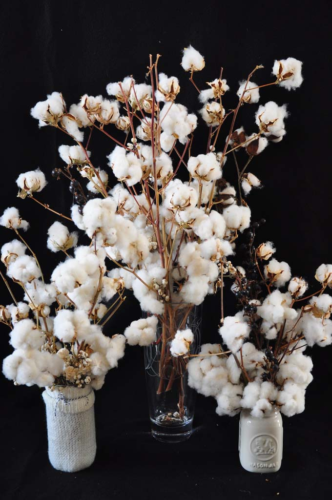 Winter Wedding Cotton Bouquets and Place Settings – one fine design