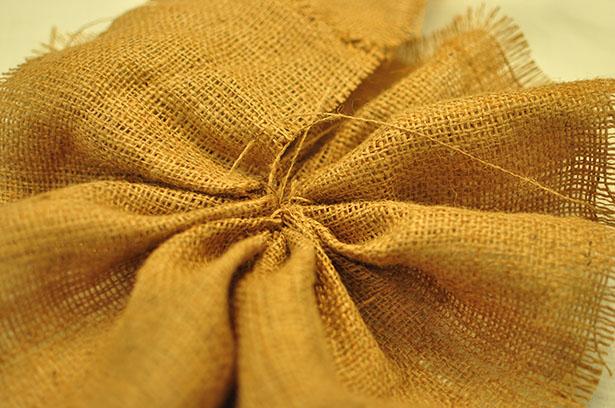sized - burlap circular stitch