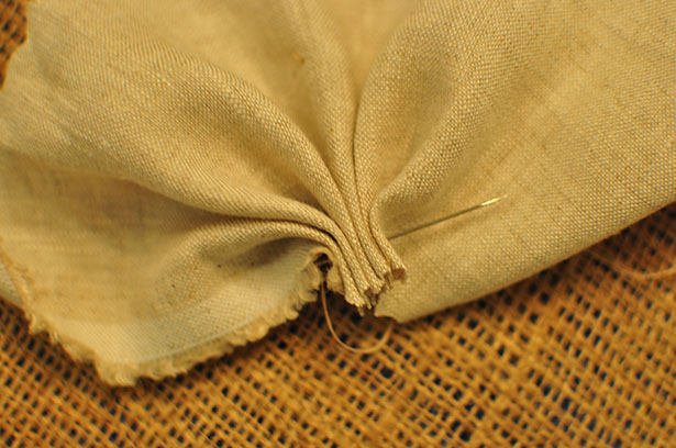 sized - linen basting