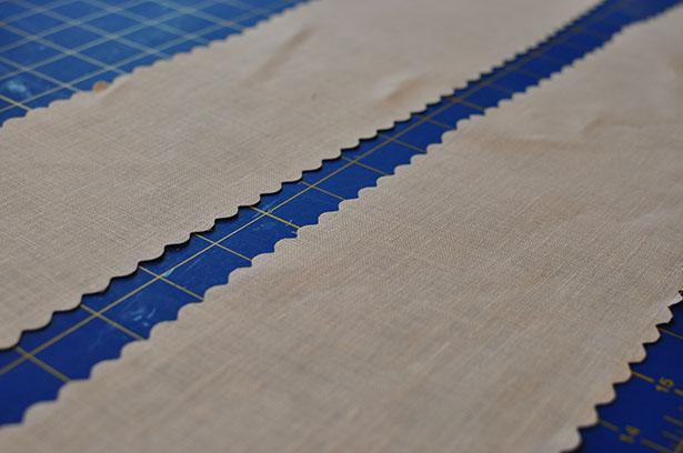 sized - pretty linen strips