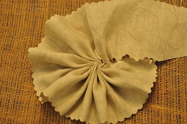 sized - tightening linen basting stitch